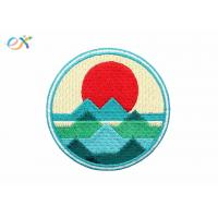 China Custom Explore Outdoor Iron On Embroidered Patches Applique Badge For Promotional Gifts on sale