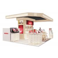 Cheap Beautiful Modern Cosmetic Display Case / Makeup Display Shelves Cream Coating Color for sale
