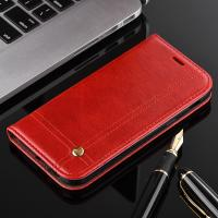 Quality Book Cover Magnetic Leather Case For Samsung A3 Oily Vintage Two Card Slot wholesale