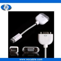 China Mini DVI to VGA Monitor Video Adapter Cable for Apple MacBook on sale