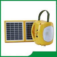 China Rechargeable solar camping lantern, high qaulity led solar lantern light with 2pcs solar panel, phone charger on sale