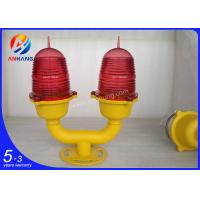 Quality <45m double low intensity led obstruction light/LED aircraft warning light for telecom project wholesale