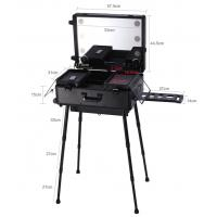 Buy cheap ABS panel aluminum makeup case with handle lights and mirror in reasonable price from wholesalers