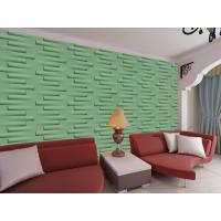 Cheap Removable Decorative Wall Panel 3D Wallpapers For Home Wall Decor Green / Yellow for sale