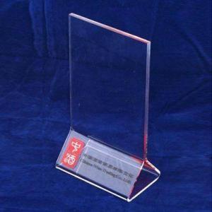 Quality A3 / A4 Transparent Tabletop Acrylic Menu Holder Triangle for Cafe Bar wholesale
