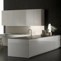 Quality Kitchen Cabinets with Melamine-faced Moisture-resistant Particleboard wholesale
