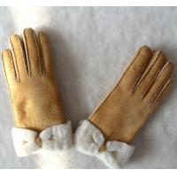 Quality Spain merino double face lamb fur gloves butterfly glove real leather glove women gloves wholesale