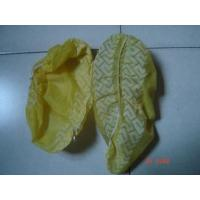 Cheap CE ISO Yellow / Blue Shoe Covers Disposable Anti Skid Lightweight One Time Use for sale