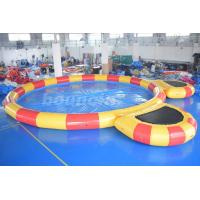 Quality Round Large Inflatable Water Pool With Platform For Water Walking Ball wholesale