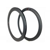 Quality Hookless 60mm Carbon Road Bike Rims Clincher Tubeless 700c With Matte / Glossy wholesale