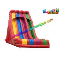 Quality Plato Material Sewing Inflatable Dry Slide , Colorful Inflatable Commercial Slide wholesale