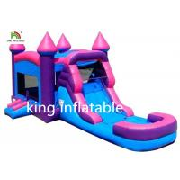 Quality Pink Girl Gaint Infltable Bounce House Dry Slide Commercial With CE Blower wholesale