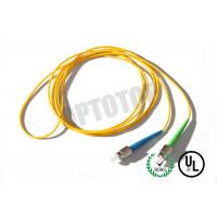Quality 1F 1.6MM Custom Fc Fiber Patch Cord OS2 With Yellow Jacket , 85447000 HS Code wholesale