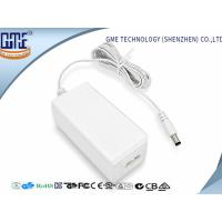Quality Fork Groove DC Connector 12V 1.5A Desktop Ac Dc Plug Adapter , 85% Efficiency wholesale