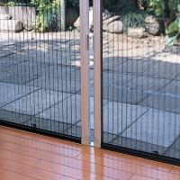 China Europe Style Retractable Screen Door , Aluminum Frame Pleated Retractable Screen Door on sale