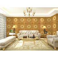 Quality Custom Leather 3D Texture Wall Panel Interior Decoration Wall Cladding Light weight and Durable wholesale