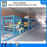 China Aluminium Plate Sandwich Panel Production Line For Roofing 70mm Dia Roller on sale