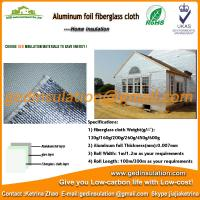 China Reflective Aluminum Foil Coated Fiberglass Cloth Thermal Insulation Material on sale