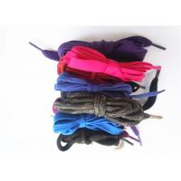 Quality Nylon Waxed Flat Shoe Laces with Plastic Tips , High Tenacity wholesale