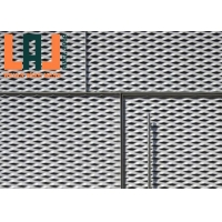 China Gray Painted 2mm Thick Exterior Facade Expanded Aluminum Mesh for sale