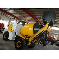China Italy Type Self Loading Concrete Batching Mixer Mobile Wheel Ready Mixer Plant on sale