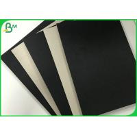 Quality Foldable 1.2mm 1.5mm Single Black Covered Cardboard Paper Grey Back For Gift Box wholesale