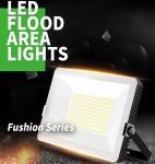 Quality AC85 - 265V Input Voltage LED Flood Light Outdoor Security Lighting Ultra Slim Design wholesale