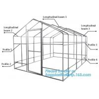 Quality hdpe woven greenhouse film, plastic roof transparent cover for green house,Good services hot galvanized structure big wa wholesale