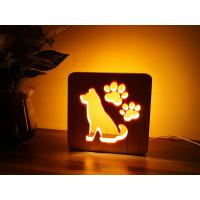 Quality Blank Wooden Laser Engrave Pet Aftercare Tribute Memorial LED Light Candle Dog and Paws, MOQ 1 PC wholesale