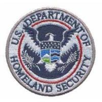China Custom Embroidery Digitizing Emblem U.S. Department of Homeland Security Eagle WDT11201 on sale