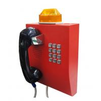 Quality IP65 Weather Resistant Telephone With Flashing Lamp , Anti Vandal Tunnel Telephone wholesale