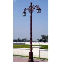 Quality Classic Western Style Cast Iron Light Pole Painting Surface Treatment For Garden wholesale