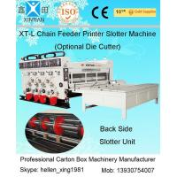 Quality Semi Automactic Printing Slotting Machine For Carton Box With 7.2 Thickness wholesale