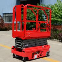 Quality Norrow 8m Scissor Lift Aerial Work Platform Low Noise Electric Mini Scissor Lift wholesale