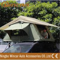 Quality 3 - 4 Person Canvas Sand outdoor camping Aluminum pole soft roof top campers wholesale