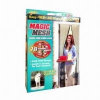 China Magnetic/Handsfree Screen/Bug-off Instant Door Curtain, Magic Mesh, Great for Pets on sale