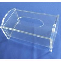 Quality Clear Rectangular Acrylic Tissue Paper Box With Sliding Lid wholesale
