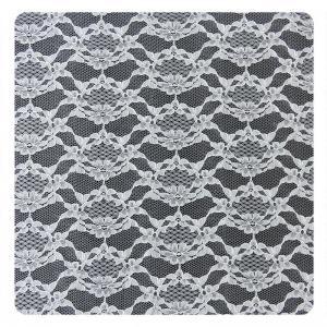 China White Thin Plain Flower 100% Nylon Net Mesh Lace Fabric 1.5 - 1.55m Width on sale