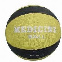 Cheap 10 Lbs Basketball Style Rubber Medicine Ball/Weight Ball for Strength Training for sale