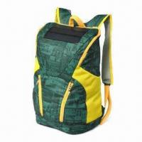 Quality Solar Backpack, Used as Laptop Charger/Phones/Mountain Bag, with Uni-Solar Flexible Panel wholesale