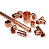 Quality 3 Way Cross Coupling Straight Tap Connector , 1/4 Inch Copper End Feed Fittings wholesale