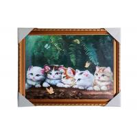 Quality Love Cat Image Lenticular 3d Pictures Decoration Craft Modern PS Frame For House wholesale
