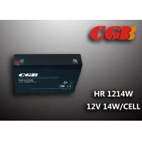 Quality HR1214W  12V 3AH Alarm System Batteries , AGM Valve Regulated Deep Cycle Rechargeable Battery wholesale