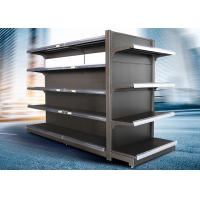 Quality Brown and white color supermarket display equipment adjustable and fashionable gondola with OEM design wholesale