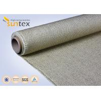 Quality 800C Vermiculite Coated High Temperature Fiberglass Cloth Heavy Duty Welding Protection wholesale