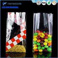 Quality Side Gusset Clear Square Bottom Cellophane Bags Opp Food Grade Plastic Bag wholesale