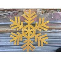 Cheap Custom Size PVC Snowflake , Christmas Tree Decorations With Gold Glitters for sale