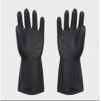 China heave duty latex black industrial rubber glove on sale