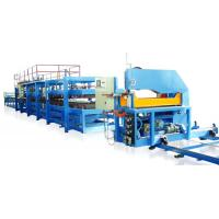China Color Steel Sheet 0.4 - 0.8mm PU Sandwich Panel Making Machine Production Line on sale