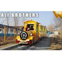 Quality Outdoor Amusement Equipment Tourist Electric Train Games New Design Track And Trackless Train wholesale